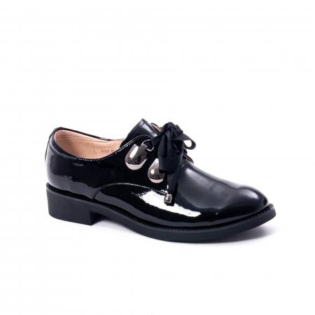 Pantofi casual dama din piele naturala Epica jixs320-01,negru lac0