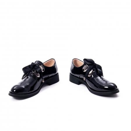 Pantofi casual dama din piele naturala Epica jixs320-01,negru lac1