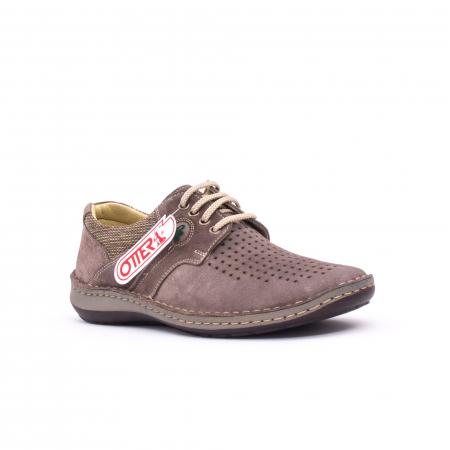 Pantofi barbati de vara, piele naturala nabuc, Otter 9560,  gri0