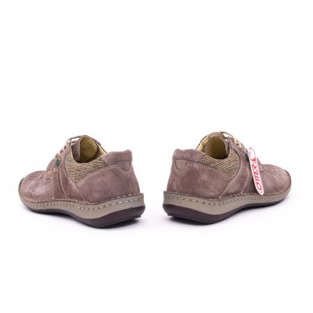 Pantofi barbati de vara, piele naturala nabuc, Otter 9560,  gri4