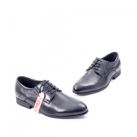 Pantofi eleganti barbat din piele naturala Otter QRA33531 01-N,negru1