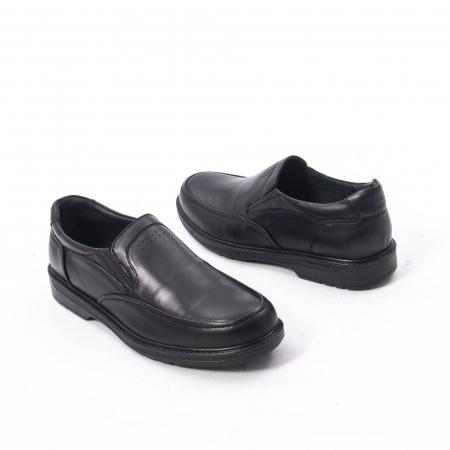 Pantofi eleganti barbati piele naturala, Catali 192561, negru2