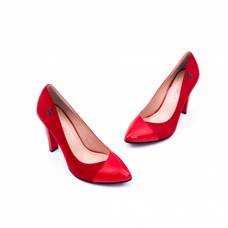 Pantofi eleganti dama 6042 rosu