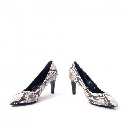 Pantofi eleganti dama piele naturala Gabor 3138030, python grau4