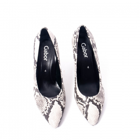 Pantofi eleganti dama piele naturala Gabor 3138030, python grau5
