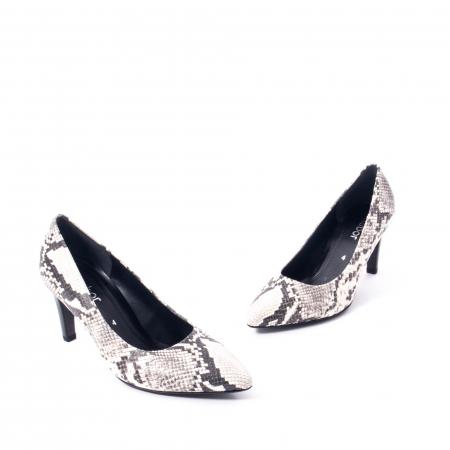 Pantofi eleganti dama piele naturala Gabor 3138030, python grau1