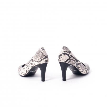 Pantofi eleganti dama piele naturala Gabor 3138030, python grau6