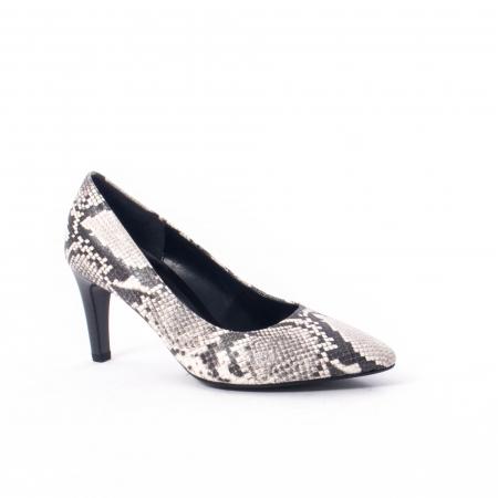 Pantofi eleganti dama piele naturala Gabor 3138030, python grau0