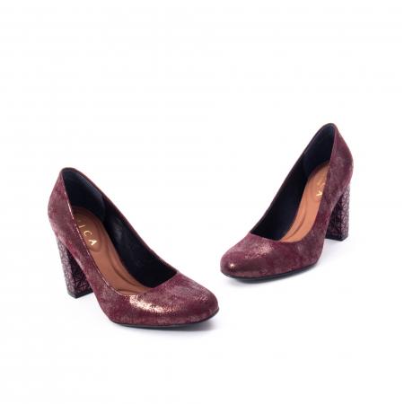 Pantofi eleganti dama, piele naturala, Epica 9766 bordo nubuc2