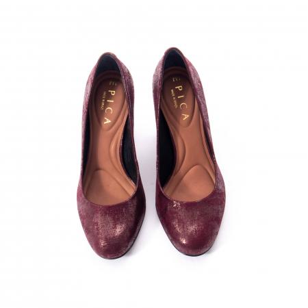 Pantofi eleganti dama, piele naturala, Epica 9766 bordo nubuc3