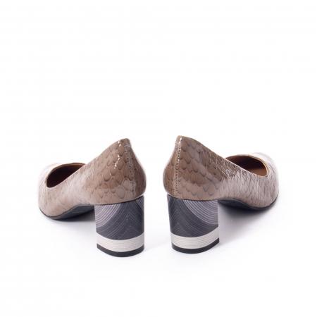 Pantofi eleganti dama, piele naturala lacuita, Epica 9690 taupe