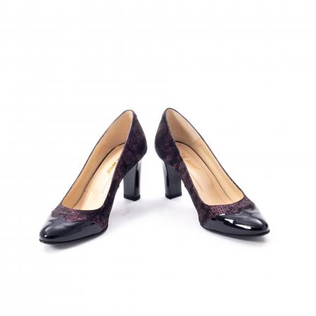 Pantofi eleganti dama, piele naturala, Nike Invest, 265 NL, negru-grena4