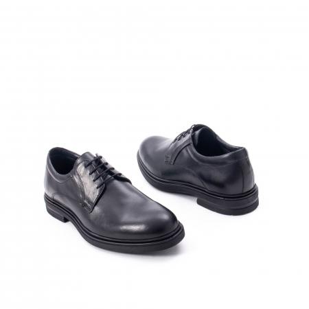 Pantofi eleganti de barbat din piele naturala,  998 negru2