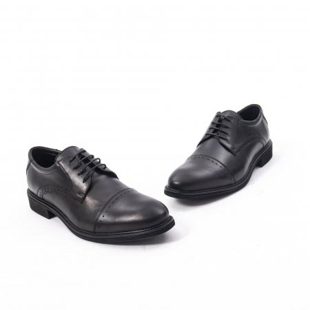 Pantofi eleganti de barbat,piele naturala Catali 172558 negru1