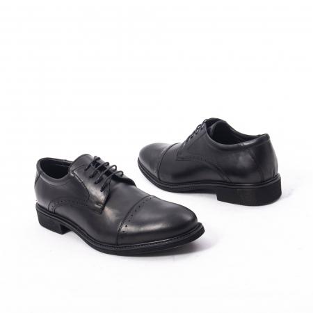 Pantofi eleganti de barbat,piele naturala Catali 172558 negru2