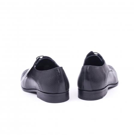 Pantofi barbati eleganti piele naturala Nevalis 116, negru6