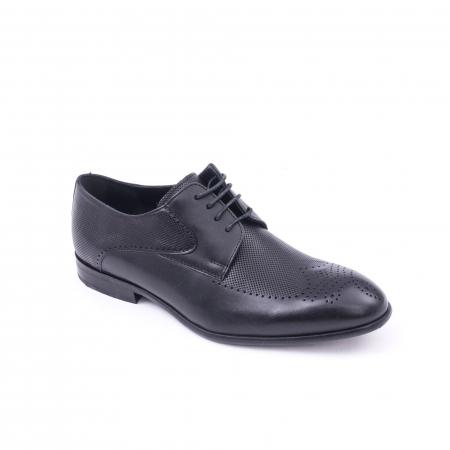 Pantofi barbati eleganti piele naturala Nevalis 116, negru0