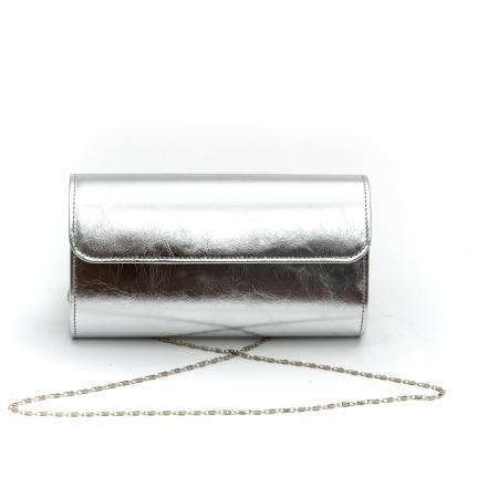 Plic butoias din piele - argintiu