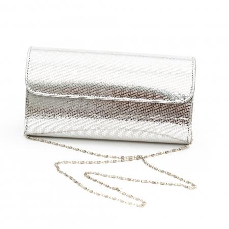 Plic butoias din piele argintiu - SOLZI