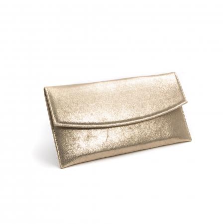 Plic slim piele naturala auriu