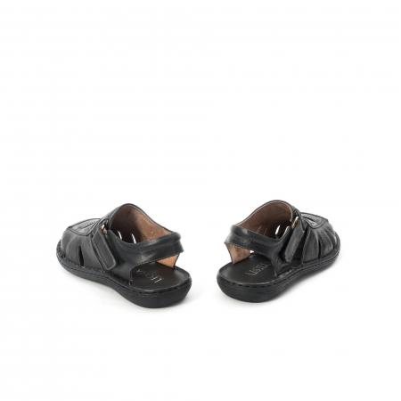 Sandale  barbat  din piele naturala ,culoare negru ,Leofex 929 .6