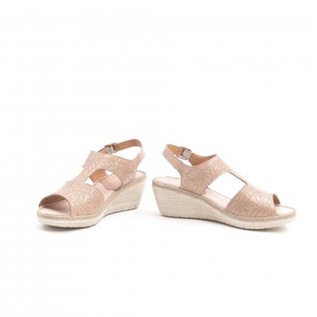 Sandale dama casual din piele naturala,Leofex  218 taupe4