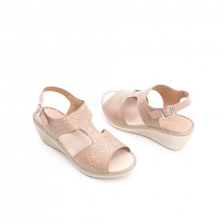 Sandale dama casual din piele naturala,Leofex  218 taupe3