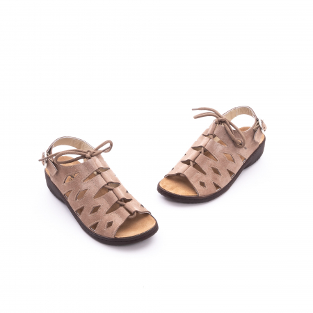 Sandale dama casual piele naturala nabuc Pass 450 03-2, bej1