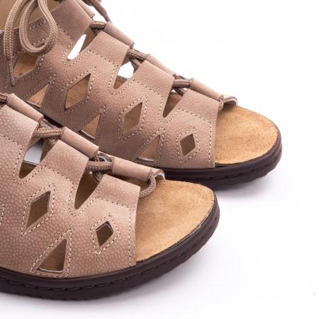 Sandale dama casual piele naturala nabuc Pass 450 03-2, bej6