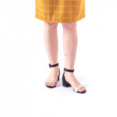 Sanda eleganta 649 negru cu auriu