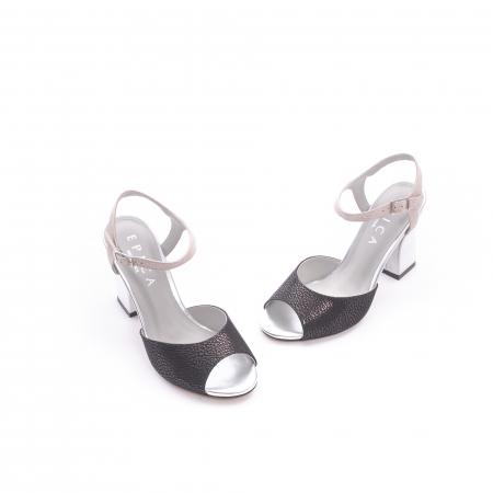 Sanda eleganta dama OE6612-266 negru argintiu