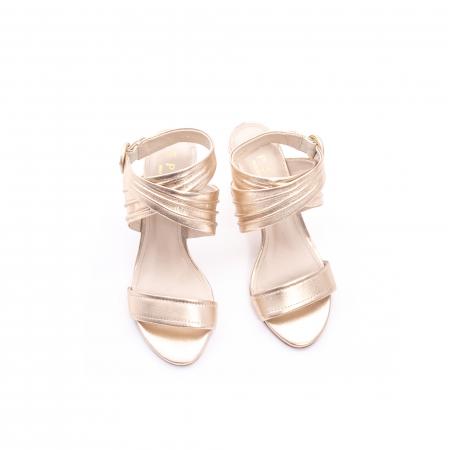 Sandale dama elegante piele naturala Epica oe8785-274, auriu5
