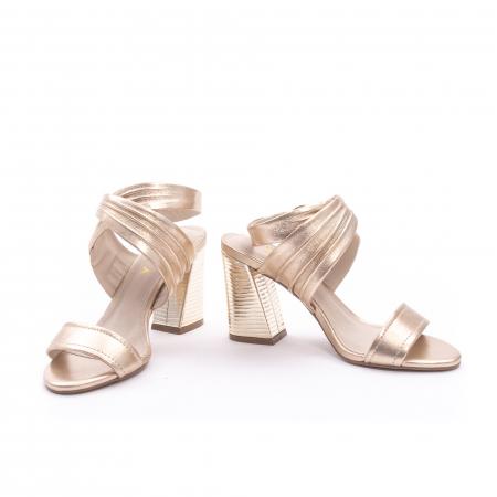 Sandale dama elegante piele naturala Epica oe8785-274, auriu4