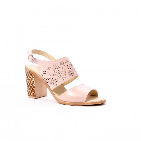 Sandale dama elegante, piele naturala, Nike Invest nk1094 B, nude
