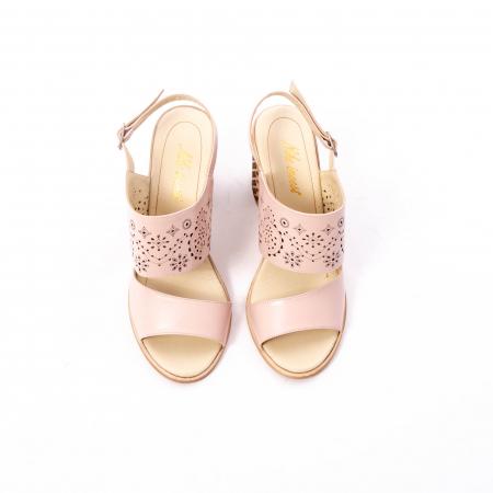 Sandale dama elegante, piele naturala, Nike Invest nk1094 B, nude5