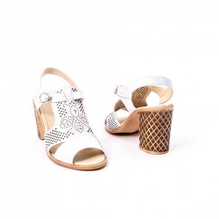 Sandale dama elegante, piele naturala, Nike Invest nk238, alb2