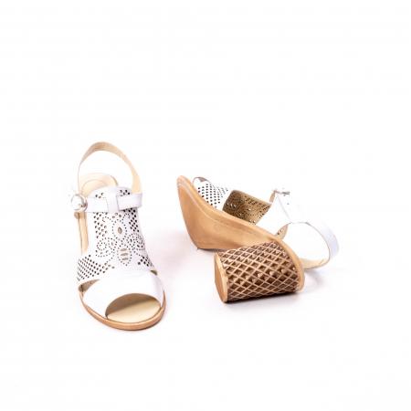 Sandale dama elegante, piele naturala, Nike Invest nk238, alb3