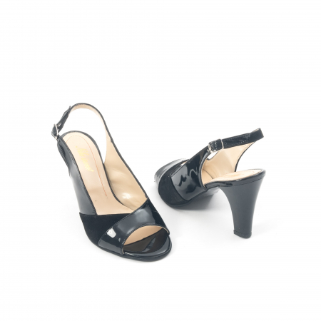 Sandale dama elegante piele naturala, Nike Invest 774 nlb, negru2