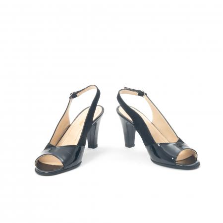 Sandale dama elegante piele naturala, Nike Invest 774 nlb, negru4