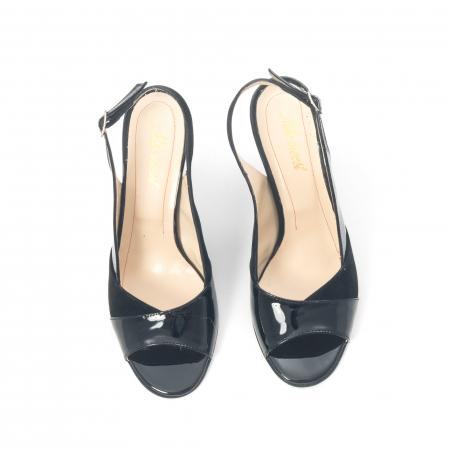 Sandale dama elegante piele naturala, Nike Invest 774 nlb, negru5