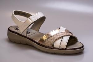 Sandale dama HARVARD SV 6804T WHITE-PAPAYA