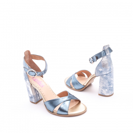 Sandale dama  LFX 148 blue sidef3