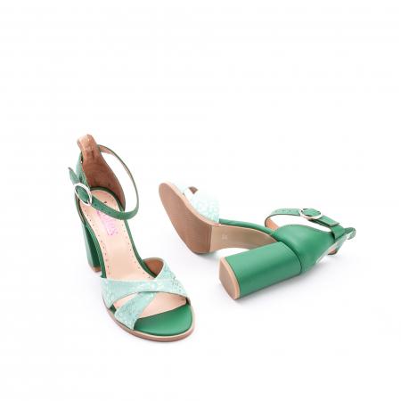 Sandale dama elegante piele naturala, Leofex 148, verde3