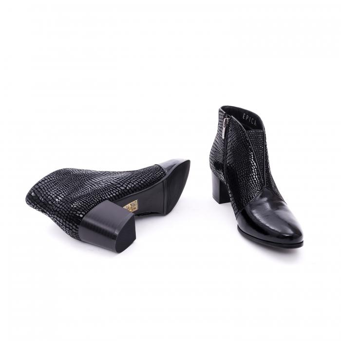 Botine elegante dama marca EPICA JG6316-4-770 negru croco
