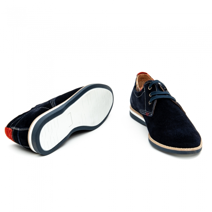 Pantof casual barbat LFX 875 blue velur