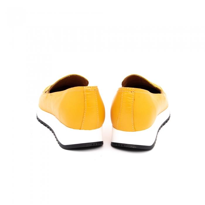 Pantof casual dama LFX 100 galben serigrafiat