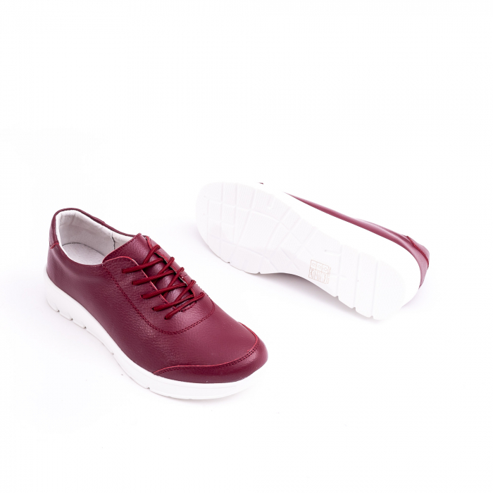 Pantof casual  Angel Blue VK-F001-442 burgundy leather
