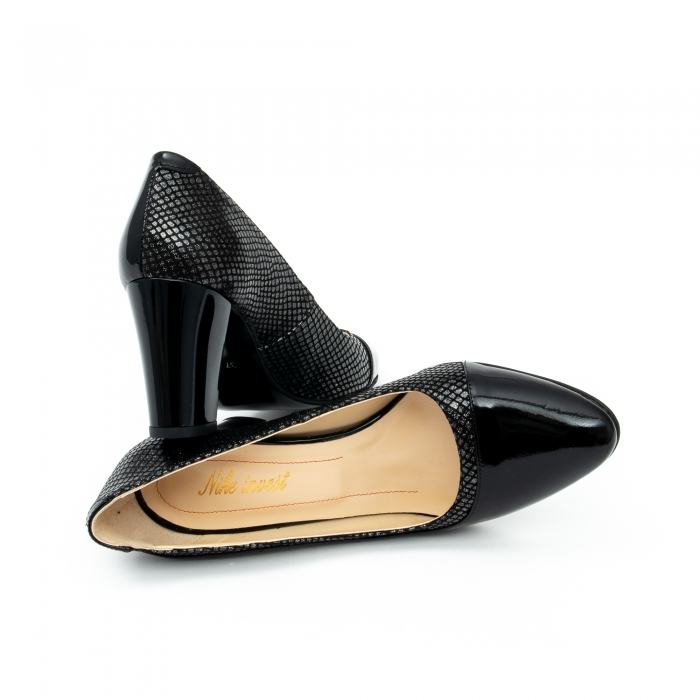 Pantof elegant dama cod 1012 negru lac