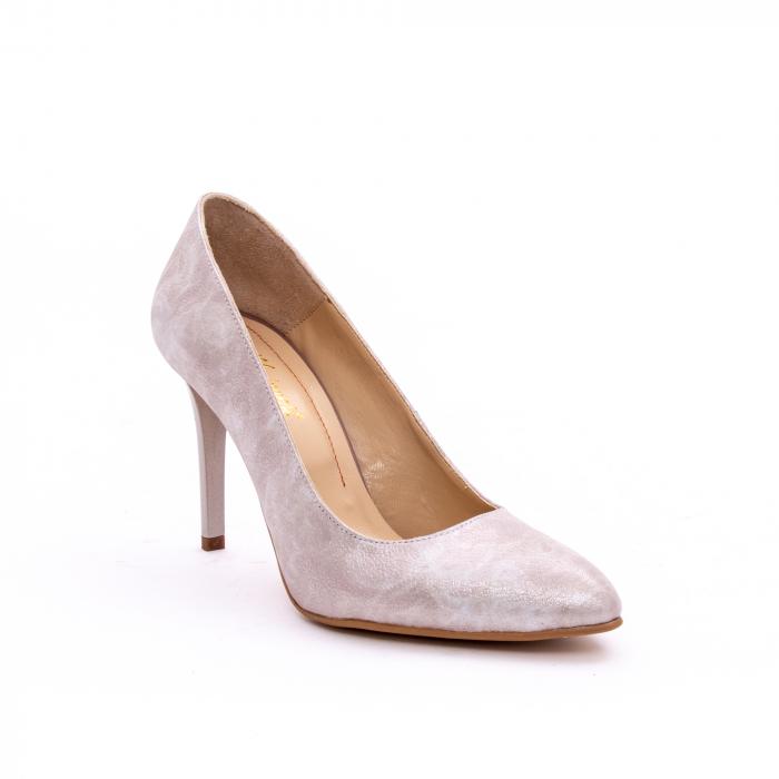Pantof elegant dama marca Nike Invest 1171 bej argintiu