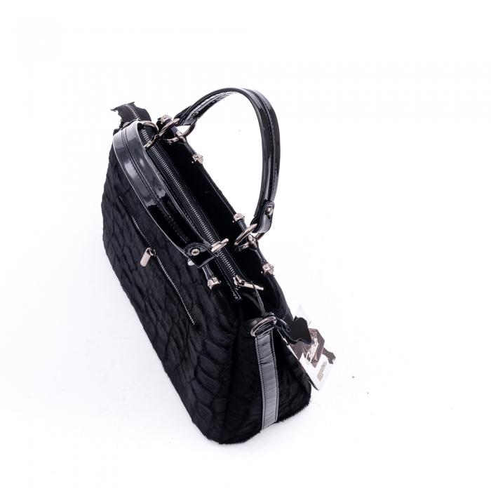 Poseta dama model 315 negru croco blanita